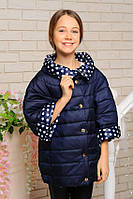Двусторонняя курточка для девочки подростка 3/4 рукав р-ры 140,146,152,158,164