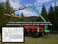 Схема гидравлическая принципиальная манипулятора АТЛАНТ-С 90-08 (ЛВ-185-08)