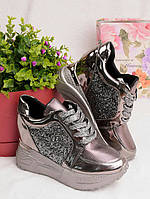 Женские кроссовки на платформе 25932, фото 1