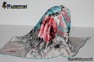 Хустка биюзовый атлас-масло Альзамия, фото 2
