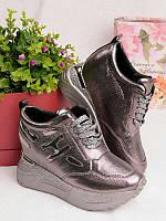 Женские кроссовки на платформе 25931, фото 1