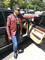 Куртка кожаная молодежно - спортивная, рукава - отстегиваются, фото 1