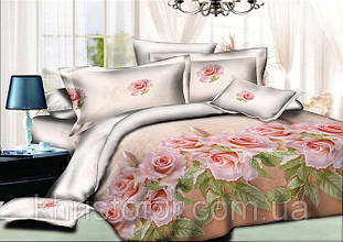 Двуспальный комплект постельного белья евро 200*220 хлопок (10004) TM KRISPOL Украина