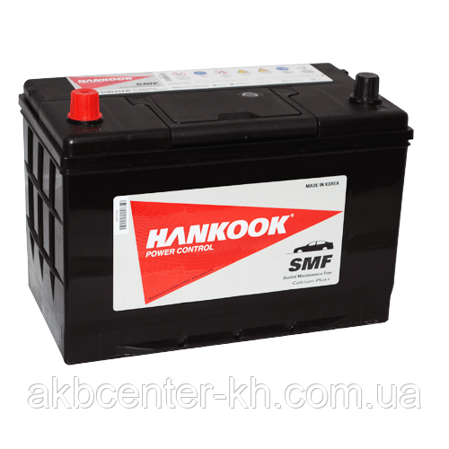 Автомобильный аккумулятор HANKOOK 6СТ- 95А2 830А L