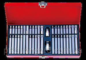 Набор вставок (бит) 10 мм, TORX, SPLINE, HEX, 44 пр. King Tony 1044CQ