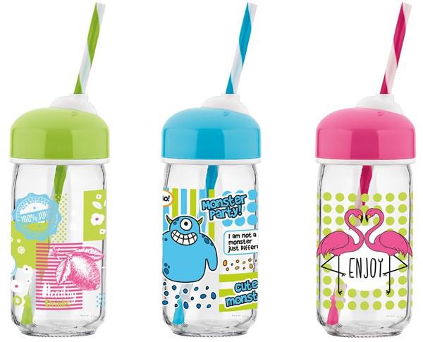 Бутылка RENGA Bubble MIX DISPLAY BOX 0.37 л стекло (151522)
