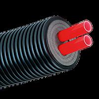 Труба изолированная AustroISOL double 90/2x25 мм