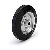 Колесо без кронштейна Фрегат 10 200 РТ, диаметр 200 мм, нагрузка 205 кг (Резина стандартная черная / cталь (эконом серия))