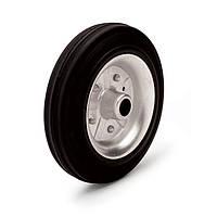 Колесо без кронштейна, диаметр 125 мм, нагрузка 130 кг, Фрегат 11 125 РИ (Резина стандартная черная / cталь (профи серия))