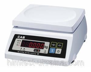 Весы для простого взвешивания настольные бeз стойки с дублирующим дисплeeм CAS SWII-10 (DD) (не поставляются)