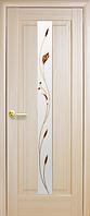 Дверное полотно Премьера Со стеклом сатин и рисунком Р1 Ясень