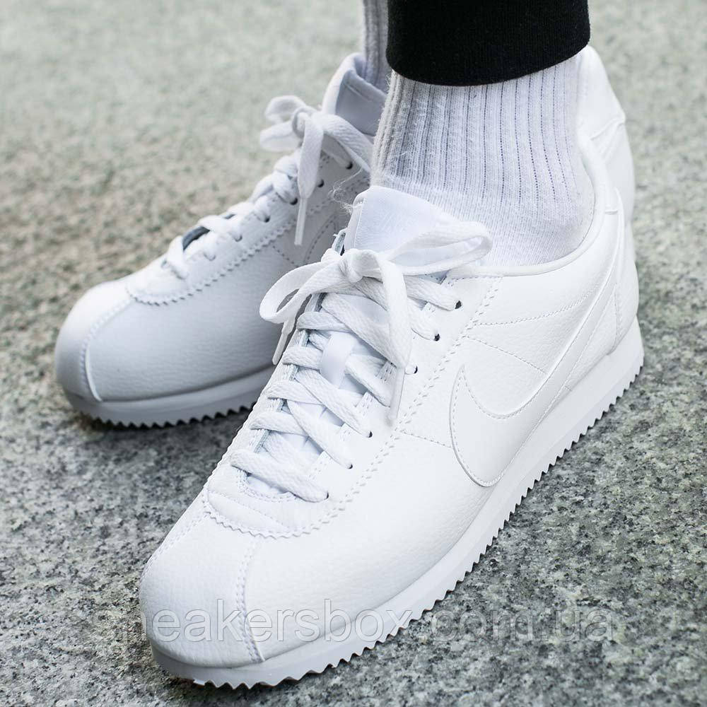 eee0779a Оригинальные кроссовки Nike Classic Cortez Leather (749571-111) -  Sneakersbox - Интернет-
