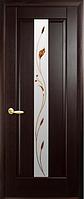 Дверное полотно Премьера Со стеклом сатин и рисунком Р1 Венге new