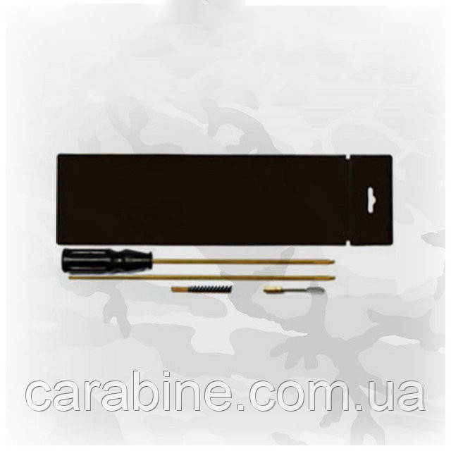 Набор для чистки пневматической винтовки кал. 4,5 (ПВХ упаковка, шомпол, 1 ерш, вишер) арт 04042