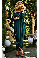 """Платье в стиле бохо """"Мадлен""""  изумрудного цвета. Размеры S-58"""