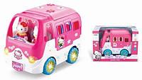 Играшка на батарейках, двигается-автобус, свет+звук