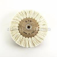 Щетка дисковая нитяная UTG 100х40х6 мм на деревянном диске