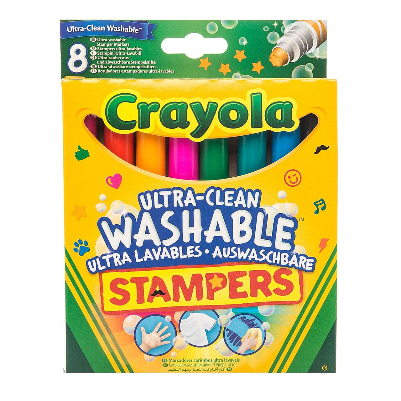 Набор смываемых фломастеров-штампов Crayola Супер-чисто 8 шт (58-8129)