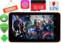"Планшет 7"" дюймов - 8дра+1Gb RAM+16Gb ROM+2Sim+Bluetooth+GPS+Android андроид Samsung"
