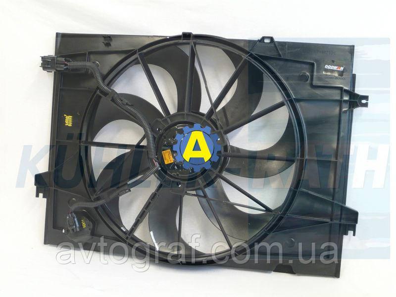 Диффузор радиатора в сборе на Хьюндай Туксон(Hyundai Tucson) 2003-2010