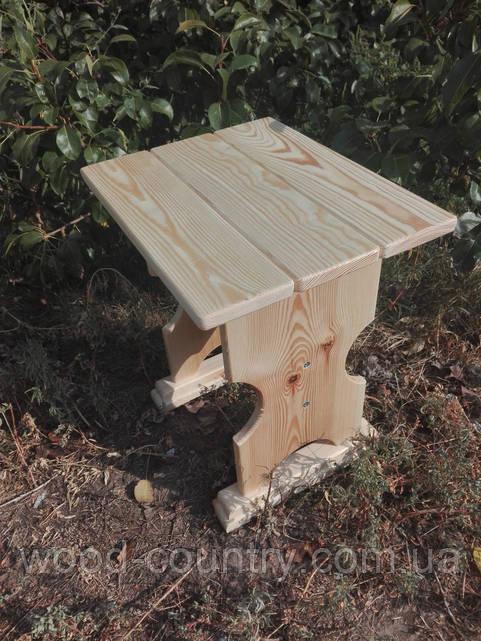 Табурет деревянный сосна фигурный