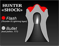 Светошумовые пули пули для пневматики Hunter «Shock» (190 шт.), фото 1
