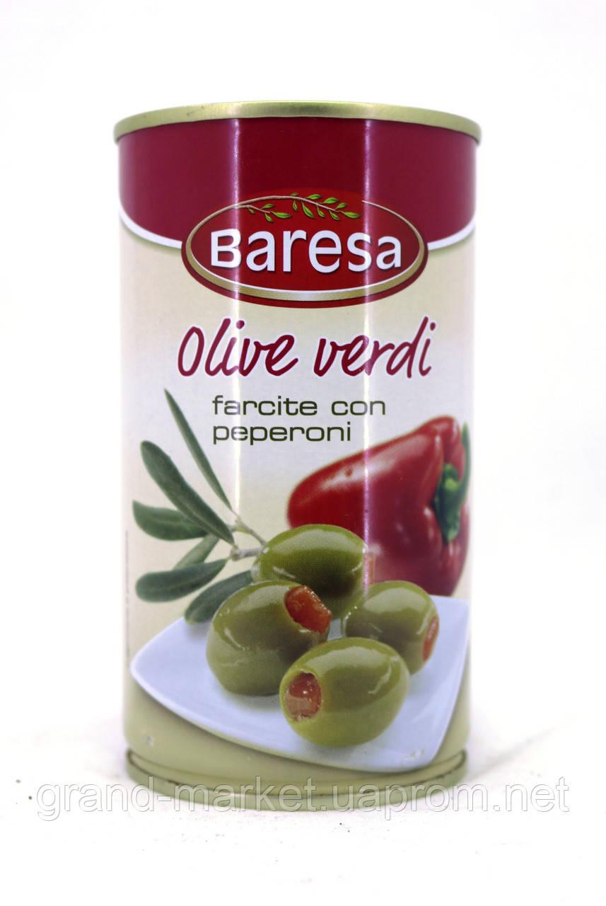 Оливки зелені з перцем Baresa Olive verdi 350 г