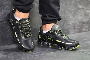 Андер Армор скорпион кроссовки мужские черные салатовые (реплика) Under Armour Scorpio Black Lime Green