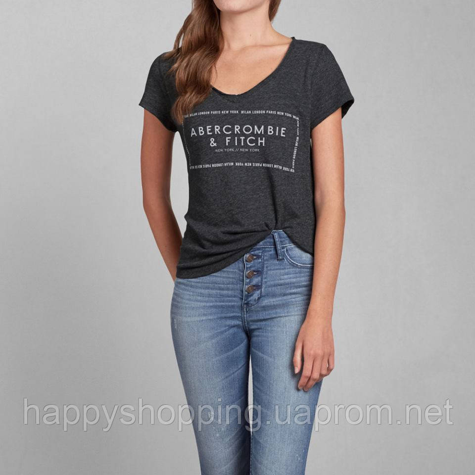 Серая футболка Abercrombie&Fitch