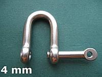 Нержавеющая скоба такелажная с невыпадающим пальцем, 4 мм, фото 1