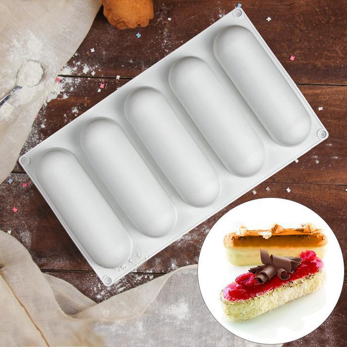 Форма силикон для муссовых пирожных Eclair