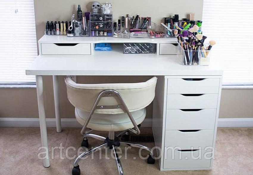 Стіл для візажиста, білий визажный стіл з ящиками