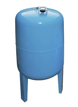 Гидроаккумулятор 100л VOLKS pumpe 10bar с манометром вертикальный, фото 2