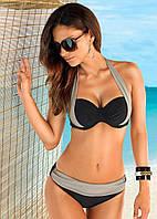 Женский купальник ХИТ серо- черный цвет, фото 1
