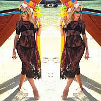 Элегантная кружевная пляжная туника, фото 1