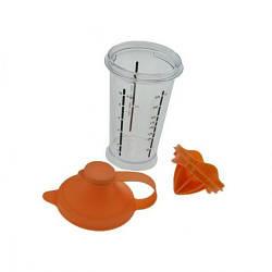 Шейкер поилка пластик с насадкой для сока и отделения желтка 300мл  MHZ N01237