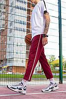 Спортивные штаны мужские бордовые бренд ТУР модель Кейдж (Cage) размер S, M, L, XL