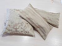 Комплект подушек беж полоска и вензель,3шт, фото 1