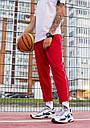Cпортивные штаны мужские красные с полосками от бренда ТУР модель Кейдж (Cage) размер S, M, L, XL, фото 2