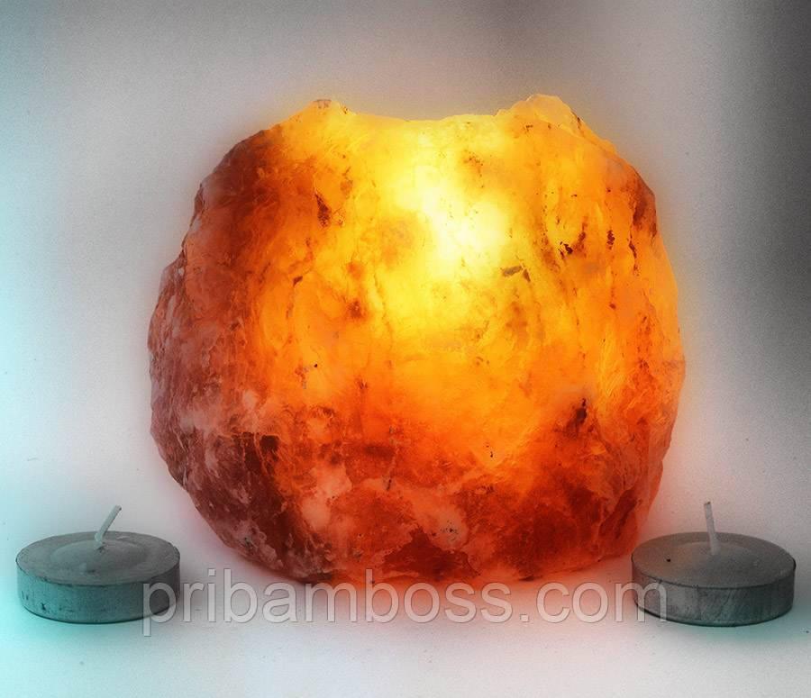 Подсвечник из гималайской соли  (10х10х8 см.)