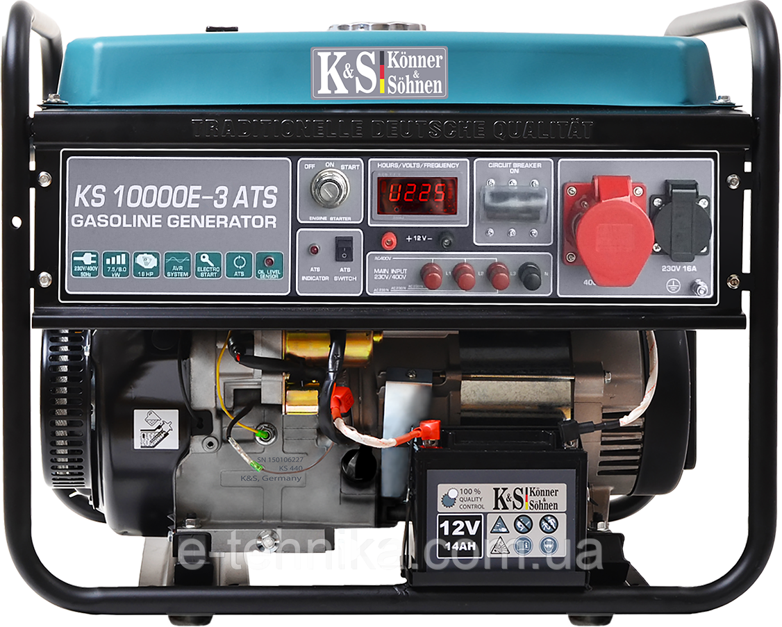 Генератор бензиновый Konner&Sohnen KS 10000E-3 ATS