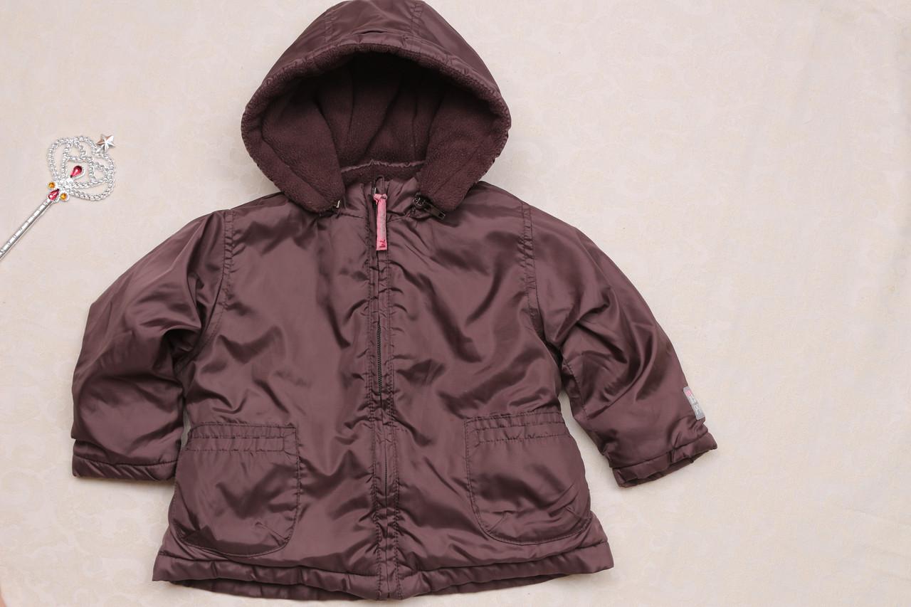 Коричневая куртка на рост 80 см на весну-осень