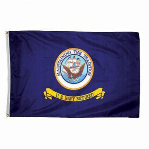 Флаг United States Navy Petired (3*5)
