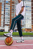 Легкие спортивные штаны мужские темно-зеленые от бренда ТУР модель Кейдж (Cage) размер S, M, L, XL