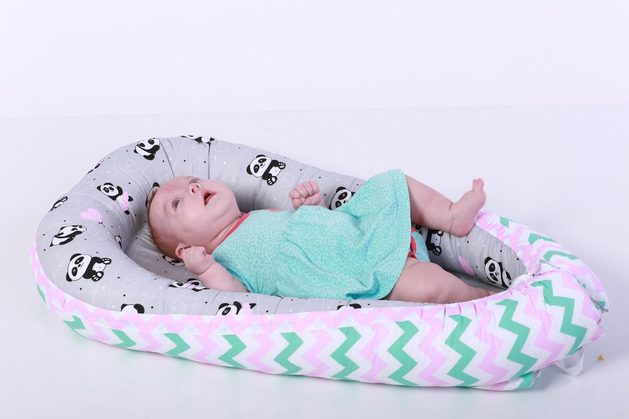 Кокон - гнездышко для новорожденного с пандами