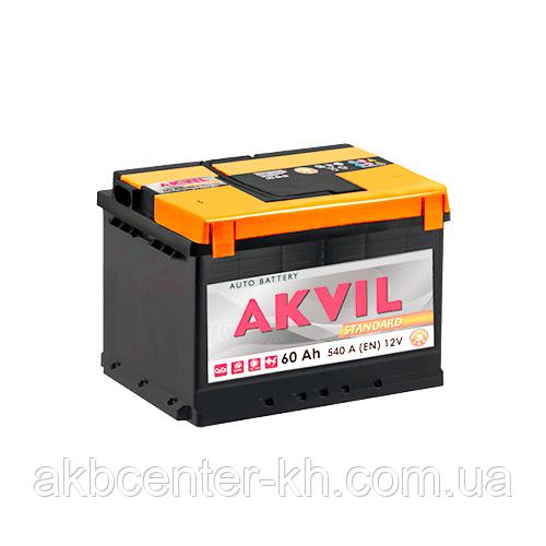 Авмобильный аккумулятор AKVIL STANDARD 6СТ- 60А3 540А R