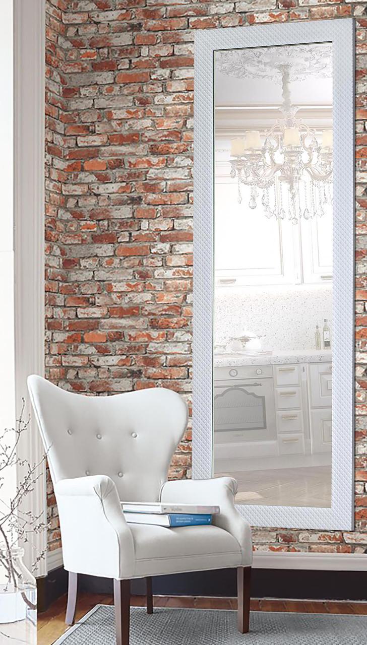 Зеркало настенное в раме Factura White square 60х174 см белое