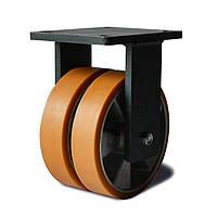 Колеса сдвоенные неповоротные, диаметр 200 мм, нагрузка 1600 кг, Фрегат 50 16x2 200 ШТ (Полиуретан / алюминий)