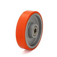 Колесо без кронштейна Фрегат 51 300 ШТ, диаметр 300 мм, нагрузка 2100 кг (Полиуретан /  чугун)