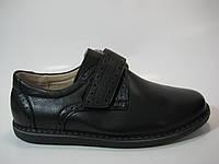 Детские кожаные туфли на липучке, фото 1